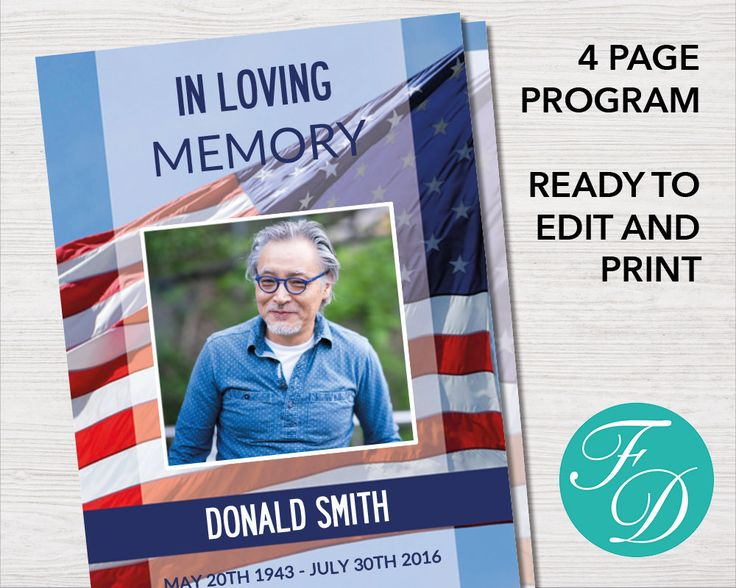 236 best Funeral Programs for Men Obituary Templates \ Prayer - printable funeral program templates