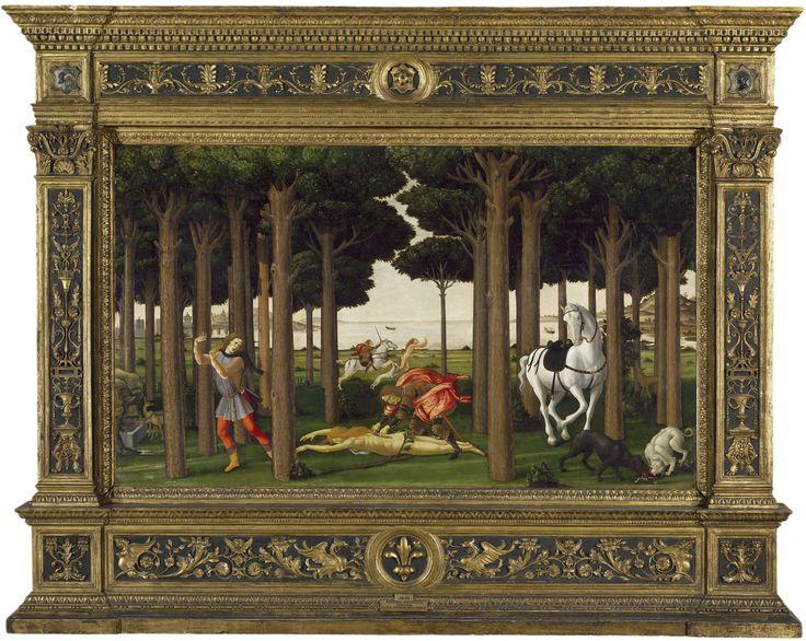 12.1 Historia de Nastagio degli Onesti. II episodio. Boticcelli. 1483.