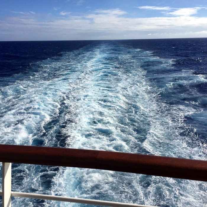 We never get tired of this view. From Holland America transatlantic cruise on the Nieuw Amsterdam.