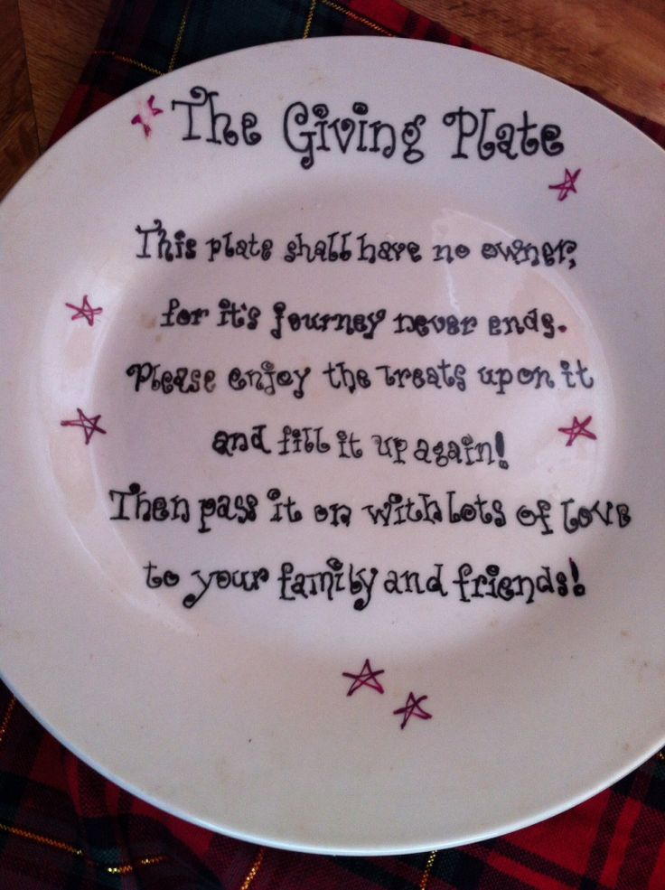 My revised version of The Giving Plate!