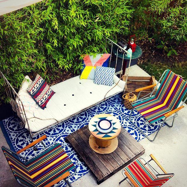 Une terrasse colorée à Paris / La décoration des internautes #Semaine 42 - 100 Idées Déco