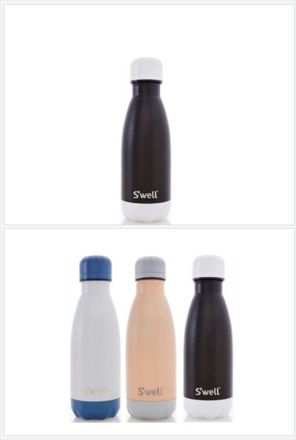 S'well Bottle Black Tie 9 oz Small water bottle Color Block Collection https://www.at-lotus.com/products/swell-bottle-black-tie-9oz-small-color-block-collection-stainless-steel-thermo