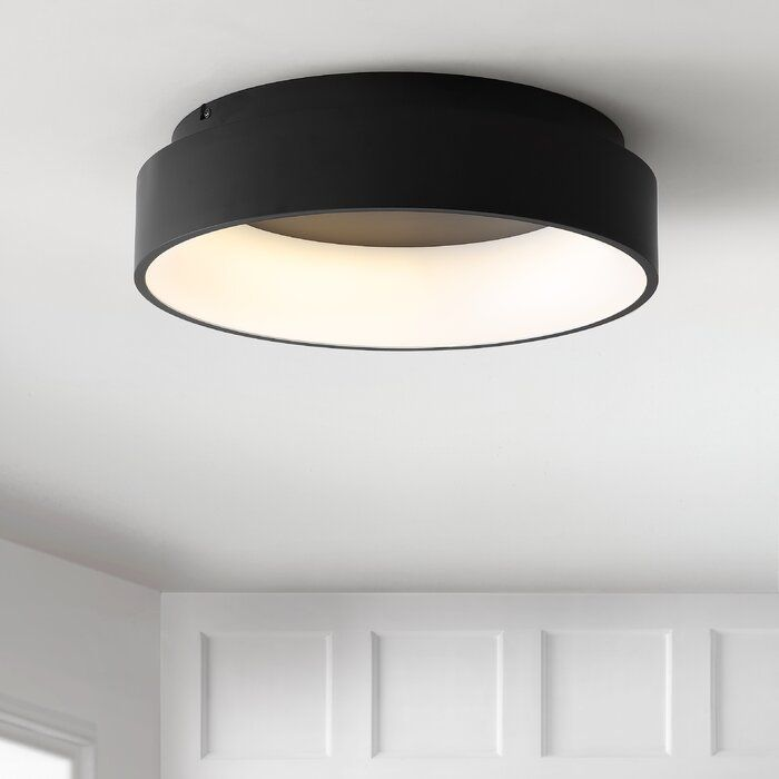 Calfee 17 75 Simple Drum Led Flush Mount 2020 寝室の照明器具
