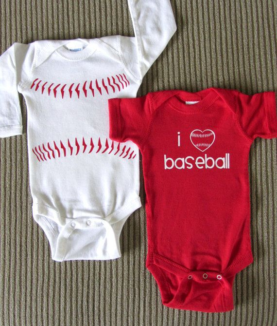 Cute! Baseball onesie.