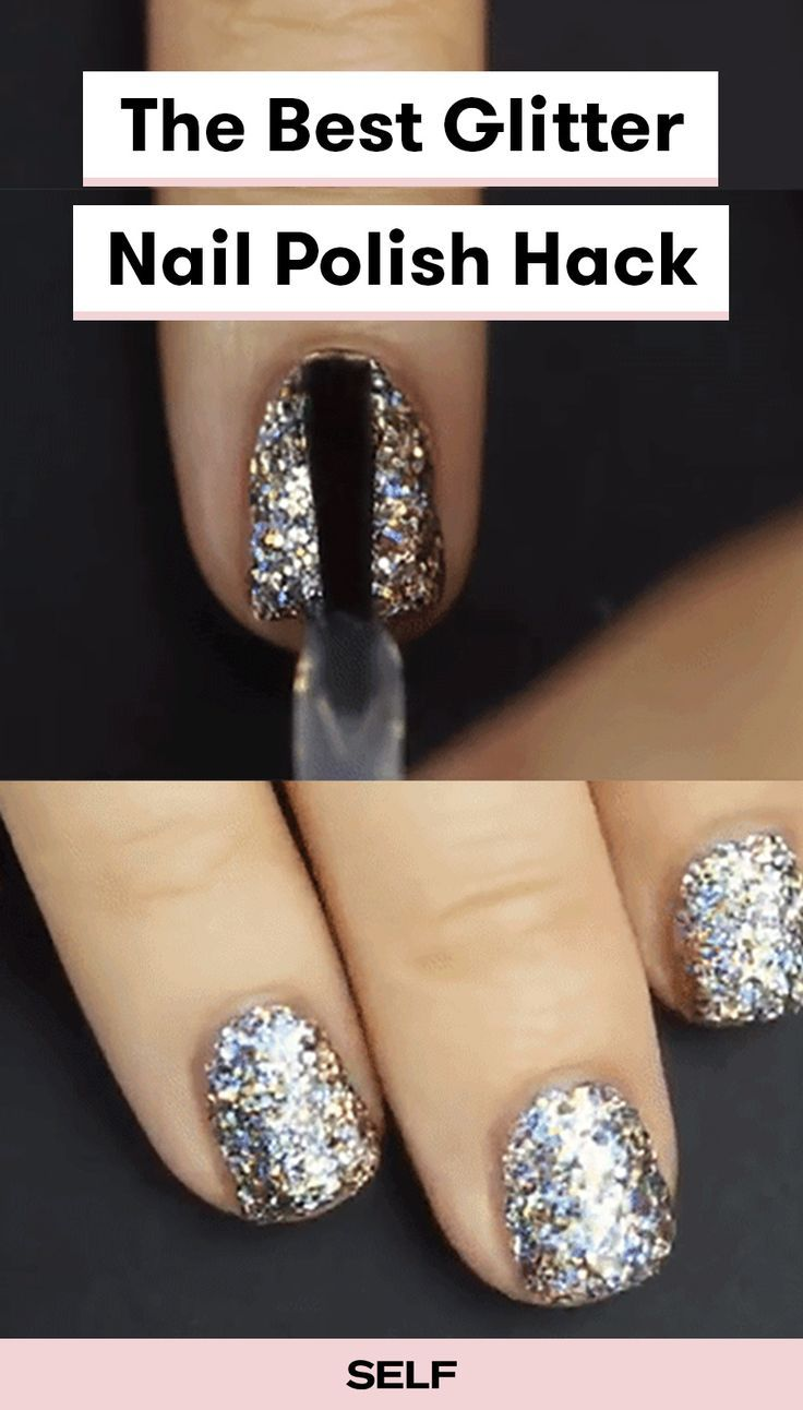 You Re Putting On Glitter Nail Polish All Wrong Sparkle Nail