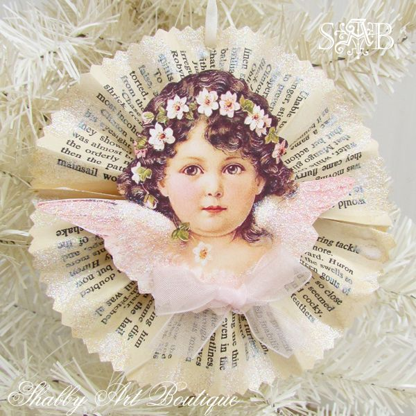 Shabby Art Boutique Victorian Angel ornament 3