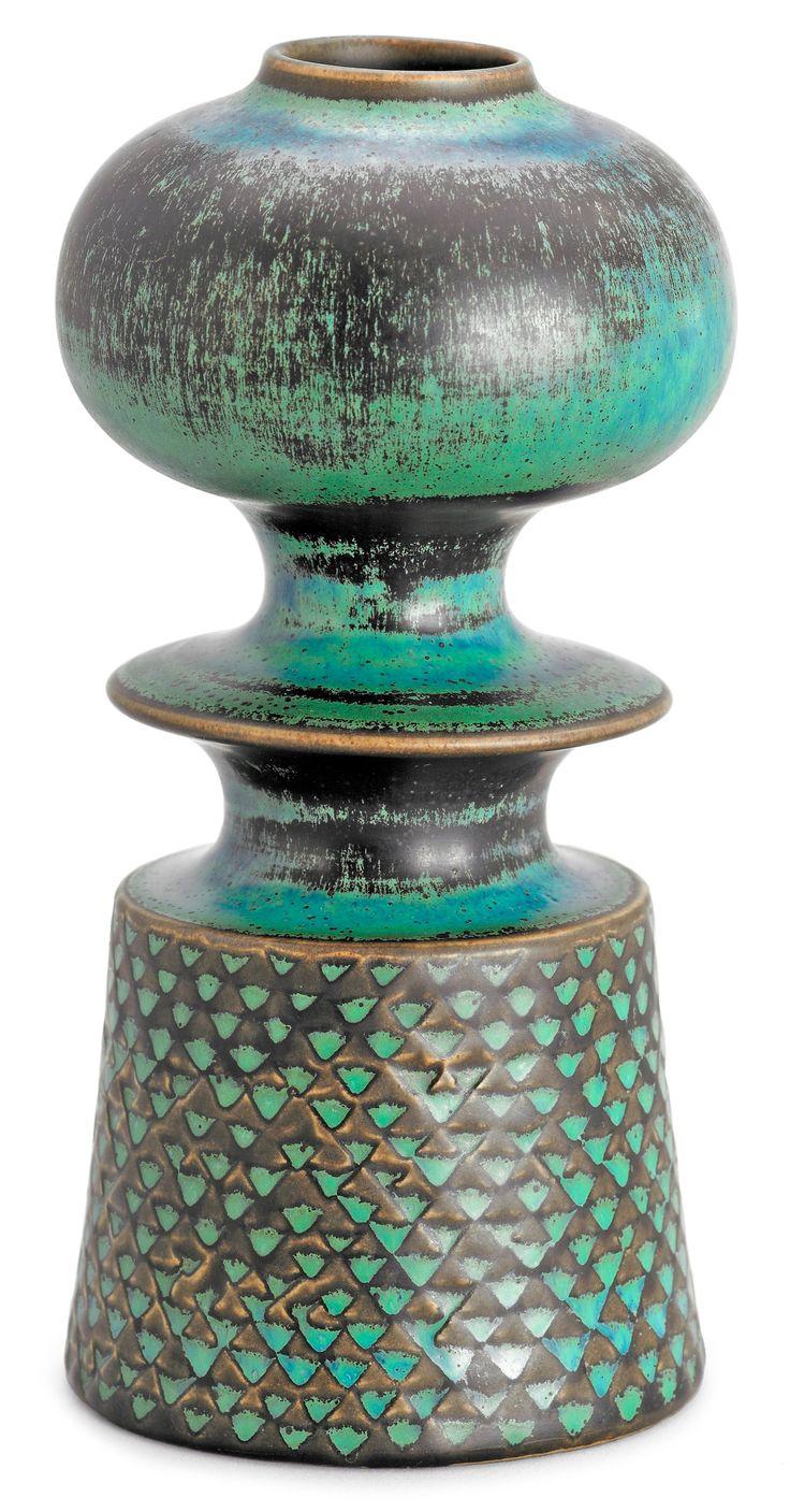 Stig Lindberg; Glazed Ceramic Vase for Gustavsberg, 1960s.