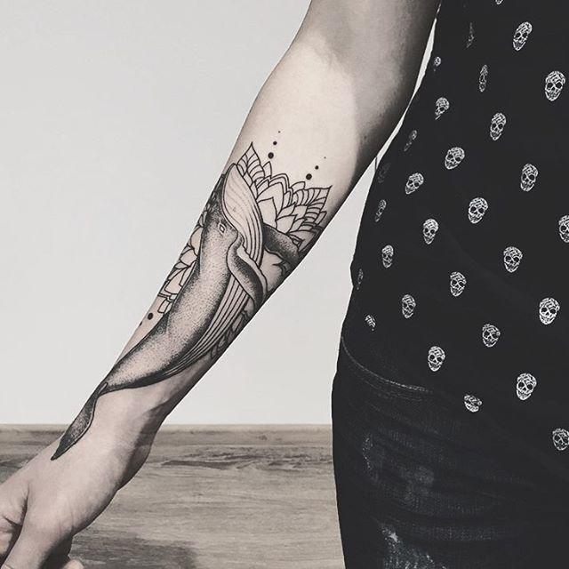 Whale tattoo by @evgeny_kopanov