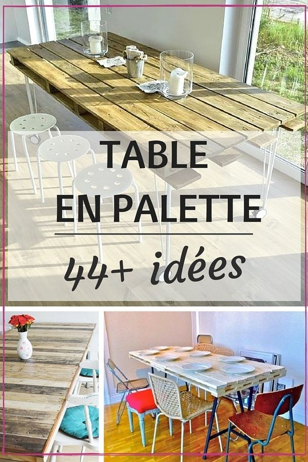 283 best upcyclage images on pinterest pallet designs for Table haute palette