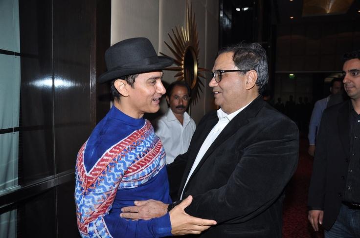 With Amir Khan