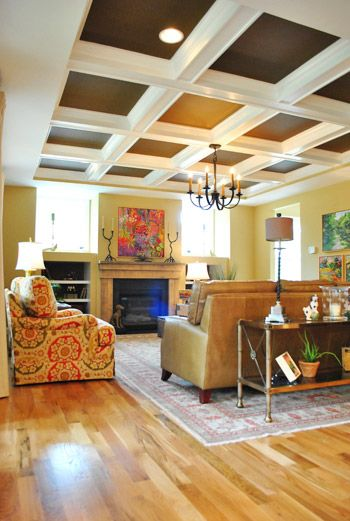 this layout matches the left side of my living roomWall Colors, Ceilings Details, Ceilings Homedecor, Coffered Ceilings, Dreams House, Living Room, Paint Colors, Families Room, Painting Ceilings