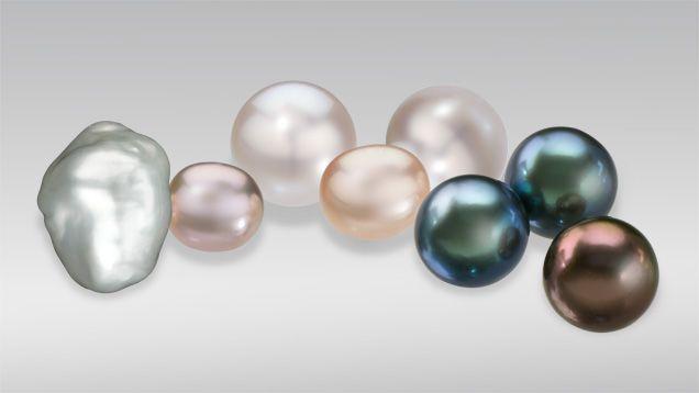 Some pearls show an iridescent phenomenon known as orient. GIA. (070113)