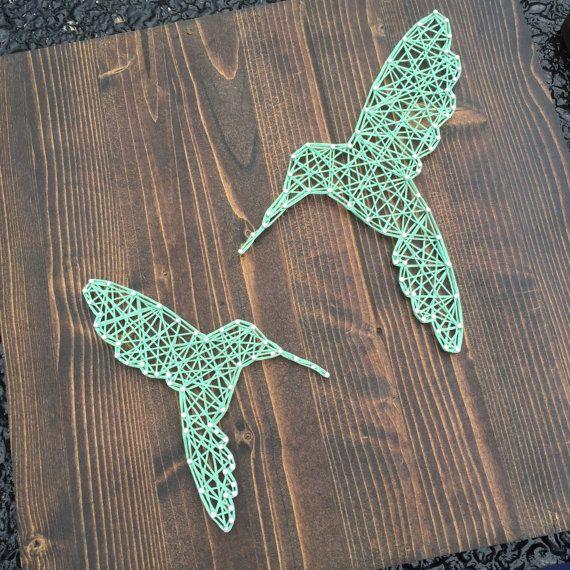 MADE TO ORDER String Art Hummingbird Sign door TheHonakerHomeMaker