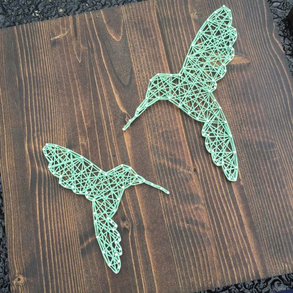 MADE TO ORDER String Art Hummingbird Sign door TheHonakerHomeMaker