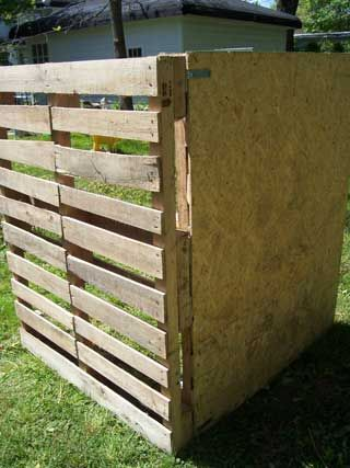 week the inspiration pallet compost bin