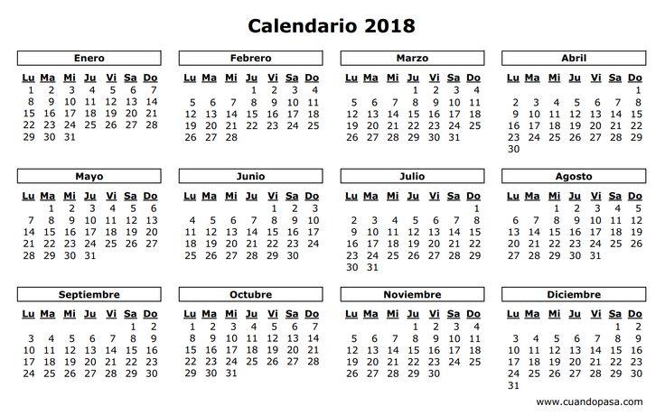 calendario 2018 - Buscar con Google