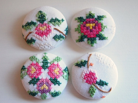 ♡ Cross Stitch Buttons