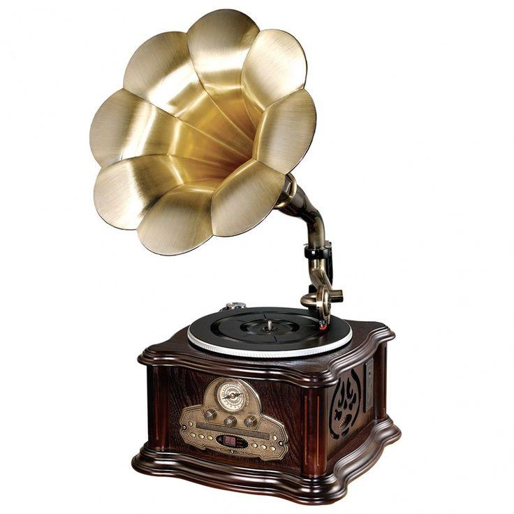 Retro gramofón s CD