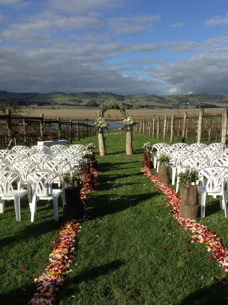 Rustic ceremony at Cleveland Winery