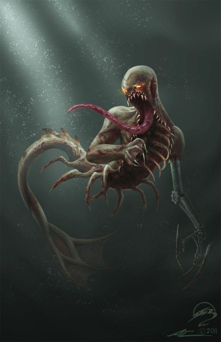 Dead Mermaid by Nanaga.deviantart.com on @deviantART// always have a darkside