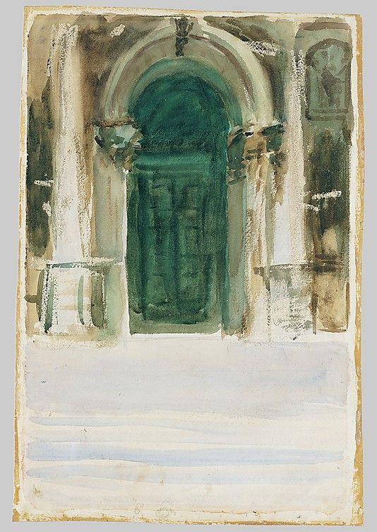 John Singer Sargent - Green Door, Santa Maria della Salute