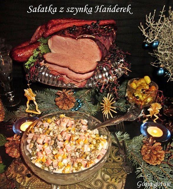 Gosia gotuje: Świąteczna sałatka z szynką