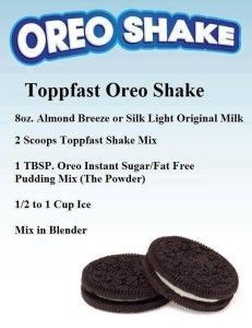 DELICIOUS! Use Saba's Toppfast Chocolate Protein Mix! Click here to buy 1.5# bag or 15 packets. Free Shipping! Includes 2 FREE Saba ACE G2 Appetite Control & Energy supplements! Terri McClellan 713.88