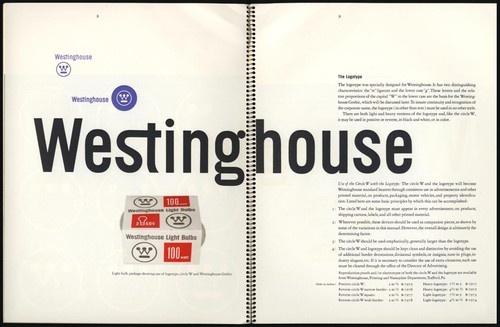 1961 Paul Rand Westinghouse Graphics Identification Manual