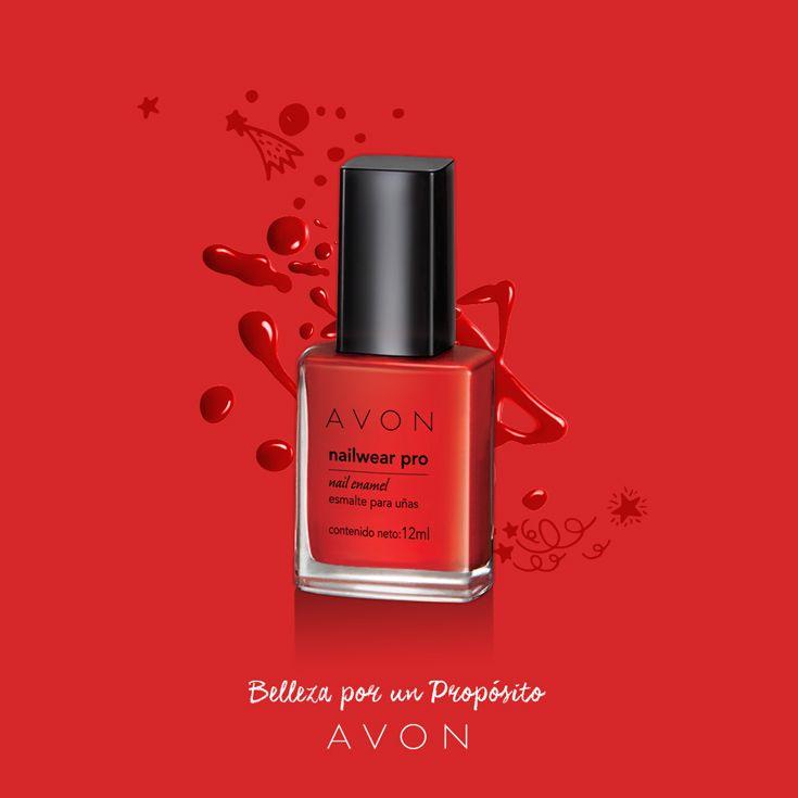 Rojo fuerte, para uñas apasionadas.