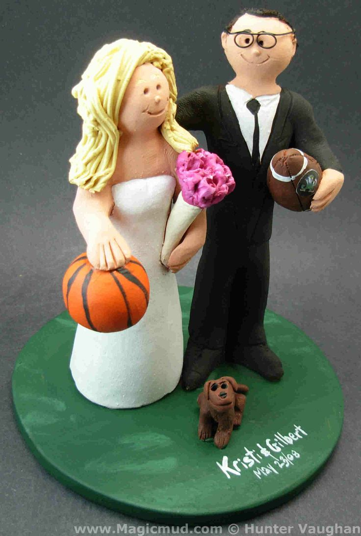 Basketball Bride Wedding Cake Topper by http://magicmud.com/Wedding%20photos.htm magicmud@magicmud.com  1 800 231 9814  https://www.facebook.com/PersonalizedWeddingCakeToppers  https://twitter.com/caketoppers  #wedding #cake #toppers #custom#personalized #Groom #bride #anniversary #birthday#weddingcaketoppers#cake toppers#figurine#gift#wedding cake toppers#basketball