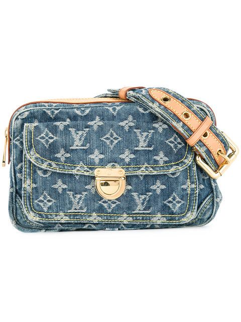 e352fadd75d Shop Louis Vuitton Vintage monogram denim bum bag | polvore in 2019 ...