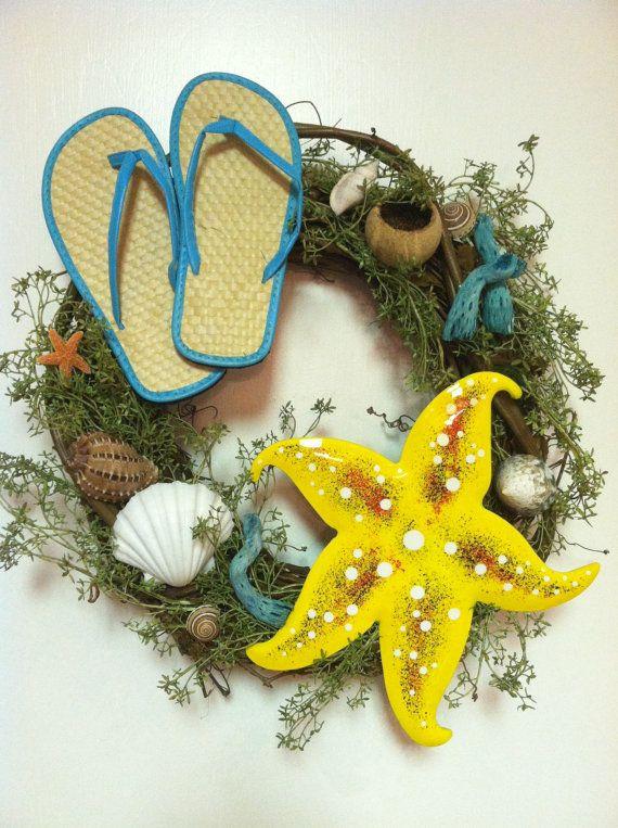 Beach Wreath Summer Fun in the Sun Door by JAZZYWREATHSINTEXAS, $65.00