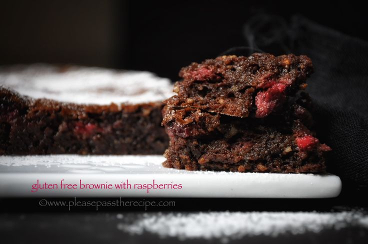 Brownie and berries, gluten free