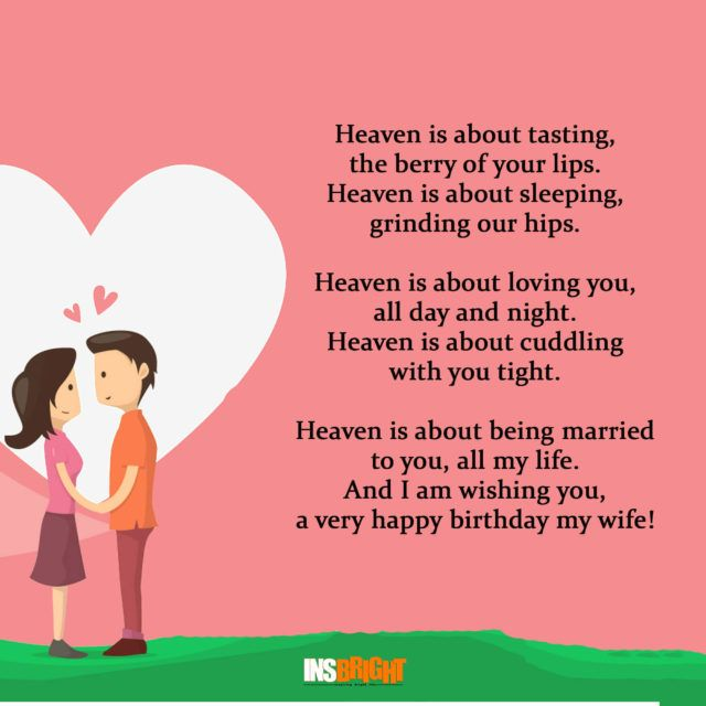 Funny Happy Birthday Poems For Husband: Romantic Happy Birthday Poems For Wife With Love From