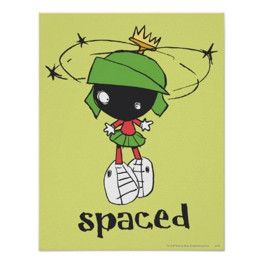 unique marvin the martian images | Marvin the Martian Spaced Print from Zazzle.com