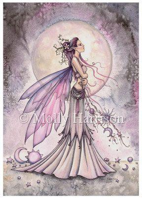 ACEO Open Edition Print -  Ziarre - Fantasy Fairy Art - Watercolor - Molly Harrison Fairies, Faery