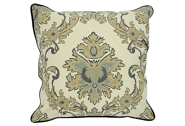 Marquee 22x22 Cotton Pillow, Green Cotton, Pillows and One Kings Lane