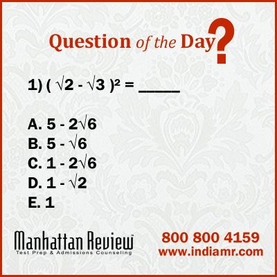 GRE Sample Questions