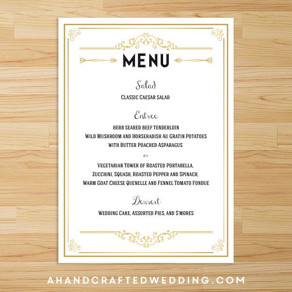 easy menu templates free - 23 best free printables images on pinterest cards free