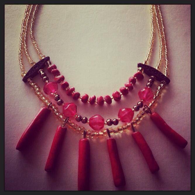 Collar Moca  100% #handmade #mocaaccesorios #Colombia Ref. C.M003//