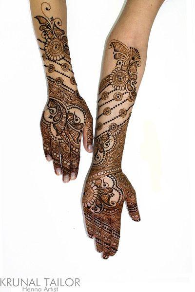Intricate mehndi design by Krunal Tailor #indian #pattern #henna #mehndi #hennatattoo #bridal #intricate