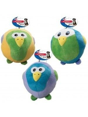 """DOG TOYS - PLUSH - BUTTERBALL TROPICAL BIRD ASSORTED - 6"""" - ETHICAL PRODUCTS - UPC: 77234041475 - DEPT: DOG PRODUCTS"""