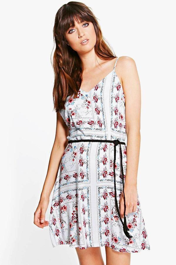 boohoo Lola Patchwork Floral Slip Dress ($16) | Kara Danvers ...