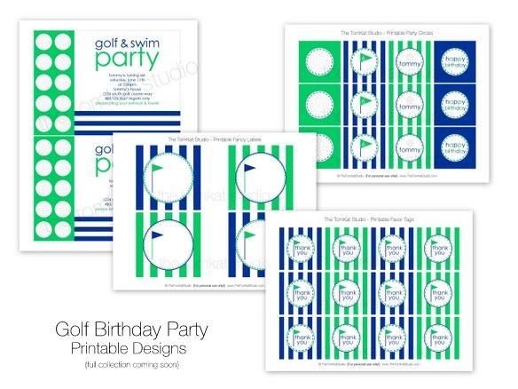 More DIY printables for party