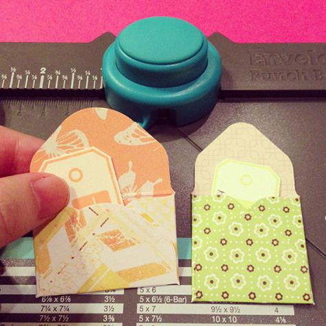 Mini-envelopes using Envelope Punch Board                                                                                                                                                      More