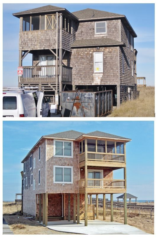 Front Elevation Renovation : Best building and remodeling on the outer banks images