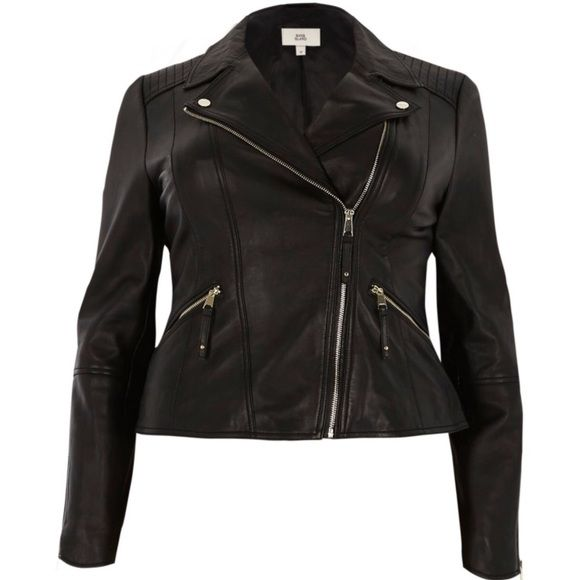 4d4f136ada80 Shop Women s River Island Black size 24W Jackets   Coats at a discounted  price at Poshmark. Description  River Island plus sized 100% leather jacket!