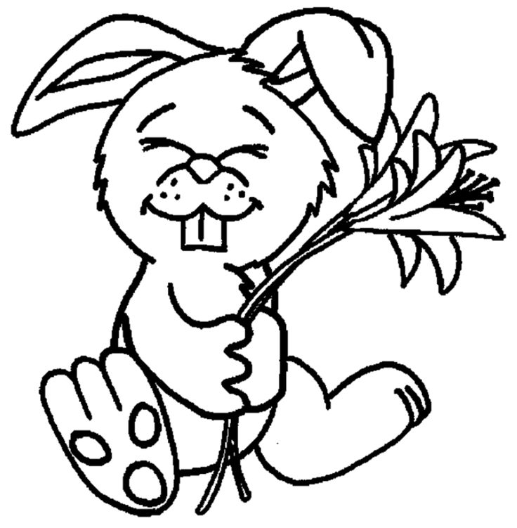 You Can Print This Cute Baby Bunny Coloring Pages And Color It With The Colors
