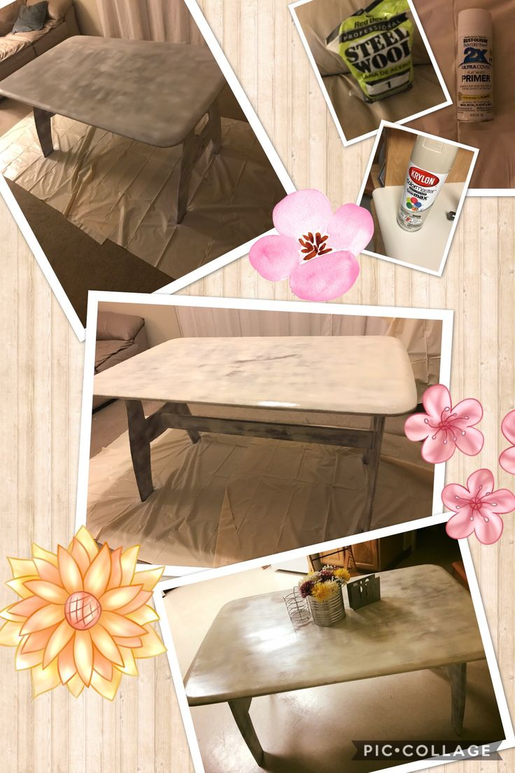Today's find. We went to off house and found this table for 2700¥. I used a can of the primer. Primed it then used the rest of the almond spray paint then used the steel wool then a clear coat and now we have a new table 😄☺️😊 finally happy that the government table has been replaced 😬😬😬😬 #milspouse #okilife #byebyegovie #crafts #table