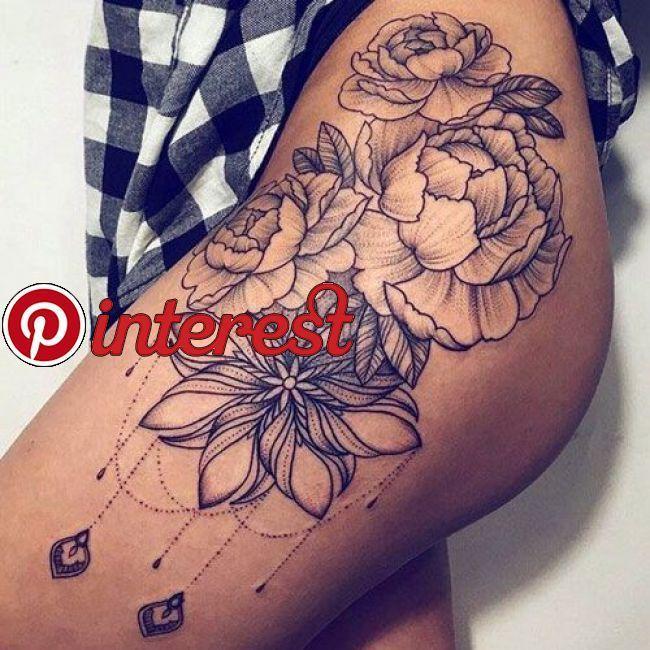 Für oberschenkel tattoos frauen Ideen Tattoos